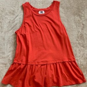 OLD NAVY ruffled peplum top